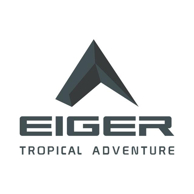 Eiger T Shirt Raster Logo - Black