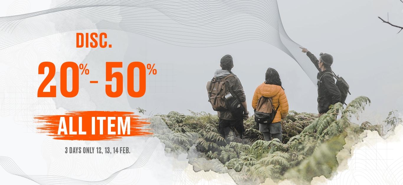 Info Pecinta Alam, Eiger Diskon 20 - 50 Persen
